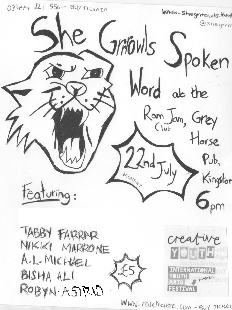 she grrrowls flyer june